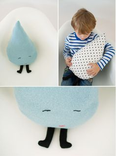 DIY raindrop pillow (I could use this pattern and change it slightly to look like the other raindrop pillow)