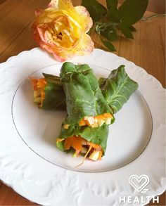 New update on 2 Health App! Try our #vegan spinach wraps with carrot 'tagliatelle'! A total summer must try (download link in bio).  #food #foodporn #healthyfood #health #wellness #foodlovers #veganfoodshare #veganfoodporn #2HealthApp #cooking