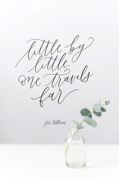 JRR Tolkien quote, calligraphy, handlettering