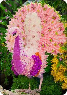 Peacock Flower Sculpture