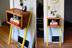 Gorgeous DIY Side Table You Can Totally Make via Brit + Co.