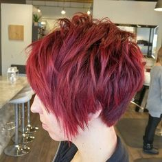 Edgy Short Layered Hairstyle For Fine Hair