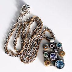 PATRICIA-LOCKE-Silver-Gold-Multi-Color-Swarovski-Crystal-Stone-Pendant-Necklace