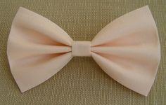 Soft Peach Hair Bow ,Hair Bows, Hairbows, Bow, Bows for girls, bows for hair, hair clips, barrette, fabric bow, cotton