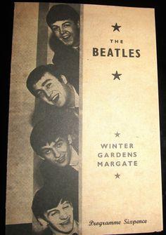 THE BEATLES Concert Programme Vintage Pop Music Rock