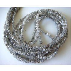 Grey Rough Diamonds Sparkling Grey Raw Diamond by gemsforjewels
