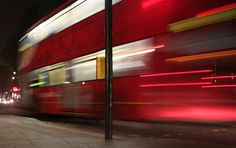 Slow shutter speed capturing a London Bus Slow Shutter Speed, London Bus, Shutters, Stairs, Explore, Photography, Blinds, Shades, Stairway