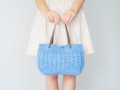 BAG // blue summer bag Handbag Celebrity Style With by Sudrishta, $69.00