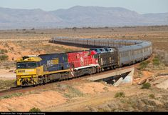 RailPictures.Net Photo: NR46 Pacific National Goninan/GE CV40-9i NR Class at Port Augusta, Australia by Peter Reading