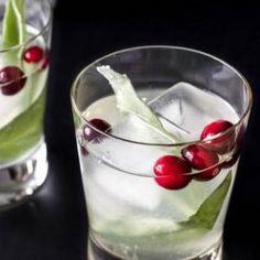 Cranberry Sage Cocktail - Vegan
