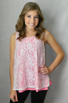 Girly Girl Lace Tank | Girly Girl Boutique