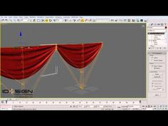 Using Cloth modifier to create curtains in 3Ds MAX - Preciux - YouTube