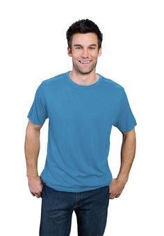 sea blue ONNO bamboo and organic t-shirt for men. The big blue is such an inspiration making this color as expansive as the seas.