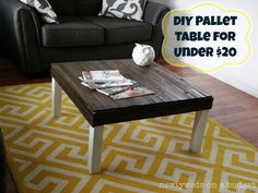 Crafting for Charity: How to Create a Pallet Table   Homes.com Inspiring You to Dream Big