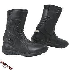 BIESSE Chaussures Moto Chaussure Scooter Streetbiker en Cuir Imperm/éable Noir 39 Noir