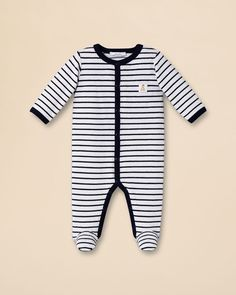 Jacadi Infant Boys' Stripe Velour Jumpsuit - Sizes 3-6 Months