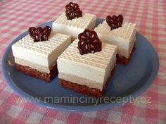Kaštanové řezy Czech Recipes, Tiramisu, Cheesecake, Deserts, Food And Drink, Low Carb, Pudding, Pie, Drinks