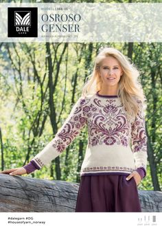 Ravelry: 366 – 01 Osroso Genser pattern by Iselin Hafseld Knitting Machine Patterns, Fair Isle Knitting Patterns, Fair Isle Pattern, Knit Patterns, Rosemaling Pattern, Norwegian Knitting, Knitted Flowers, Crochet Clothes, Knitting Projects