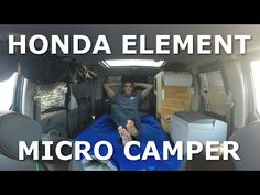 Hey everyone! This channel is about my life as I travel around the country living out of my Honda Element. I have been inspired to live my dream life on the . Stealth Camper Van, Honda Element Camping, Minivan Camper Conversion, Van Storage, Minivan Camping, Custom Campers, Solar Generator, Diy Rv, Camping Guide