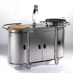 Mobile Beer & Grill Bar from Alpina Grills & Catering Systems - $11,300 (? - http://badassdigest.com/2011/05/31/start-your-summer-with-the-mobile-beer-bar-grill/)