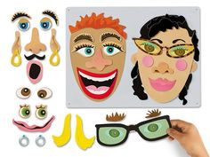 Make-A-Face Magnetic Board at Lakeshore Learning -- for 3 y. Magnet Board Kids, Board For Kids, Magnet Boards, Magnetic Book, Lakeshore Learning, Lakeshore Toys, Imagination Toys, Halloween Science, Vip Kid