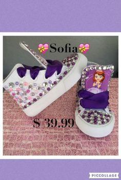 32b34ba85 Sofia The First InspiredBling Sneakers Sofia Kicks Sofia Custom Sneakers