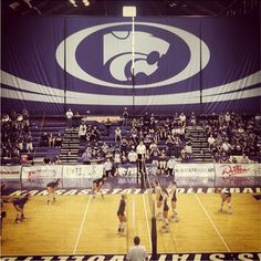 K-State Volleyball during their match against TCU. The Cats won 3-0.