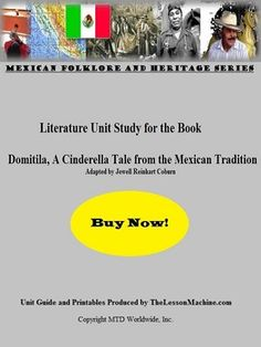 Teachers wishing to incorporate yet another #Mexican #Cinderella tale into their whole group or individualized instruction schedule can do so with this comprehensive literature unit study guide. Developed to support the book Domitila, a Cinderella Tale from the Mexican tradition adapted  by Jewell Reinhart Coburn, this unit includes a variety of easy-to-use educational support materials.  #worksheets #vocabulary #printables #activities
