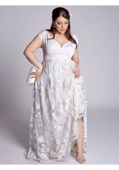Plus Size Eugenia Vintage Wedding Gown image--how beautiful. i love the sleeves on it.