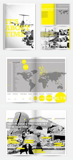 Black & White, Yellow, Three Colour, Layout, Information