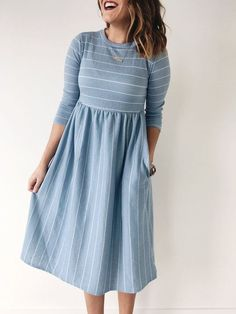 21 Dresses Skirts For Starting Your Winter dress dress embarazadas fashion fotos ideas moda diet first yoga fashion fotos outfits tips women 21st Dresses, Modest Dresses, Modest Outfits, Modest Fashion, Pretty Dresses, Casual Dresses, Fashion Dresses, Denim Dresses, Modest Clothing