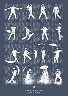 Gene Kelly - Minimalist version of famous Singin' In The rain dance number