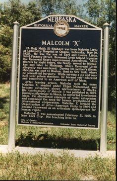 Malcolm X birthplace I am so proud to be from Omaha and have family working on his memorial site.