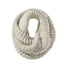 Mossimo Twisted Neck Snood Scarf Ivory