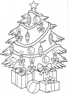 Kerstboom Free Christmas Coloring Pages, Christmas Coloring Sheets, Coloring Sheets For Kids, Cartoon Coloring Pages, Colouring Pages, Printable Coloring Pages, Coloring Pages For Kids, Coloring Books, Colorful Drawings