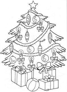 Kerstboom Christmas Coloring Sheets, Printable Christmas Coloring Pages, Coloring Sheets For Kids, Cartoon Coloring Pages, Colouring Pages, Adult Coloring Pages, Coloring Books, Christmas Colors, Christmas Art