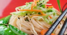 Asian Rice Noodle Salad  Let us Not forget the simple things///