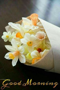 Paper Daffodils by Design Sponge Good Morning Flowers, Good Morning Picture, Good Morning Good Night, Morning Pictures, Good Morning Wishes, Good Morning Quotes, Morning Pics, Happy Morning, Morning Greetings Quotes