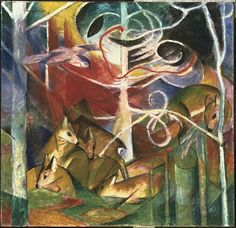 Franz Marc - Deer in the Forest I - Professional Artist is the foremost business magazine for visual artists. Visit ProfessionalArtistMag.com.- www.professionalartistmag.com