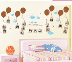 Photo Wall sticker Removable DIY Balloon decal  for  Home decor Size 60x90cm Free Shipping  http://www.aliexpress.com/store/919633