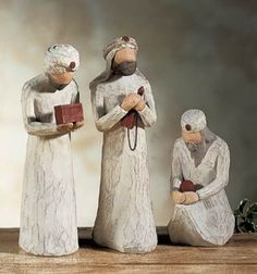 Create your own nativity scene with these Willow Tree nativity figures. Simple and classic, this enduring depiction of the Christmas story will become the centerpiece of your holiday decorations for years to come.