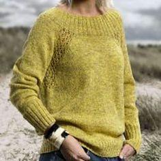 0c8bbf14 Eyelet er en enkel, feminin sweater med moderat rummelig pasform.