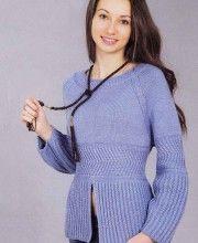 Raglan Pullover with Brioche Ribbing
