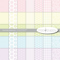 Easter Digital Scrapbook Paper - Pastels