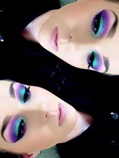 Improve makeup with these urban decay eye makeup Image# 2311 Basic Eye Makeup, Colorful Eye Makeup, Makeup For Green Eyes, No Eyeliner Makeup, Eye Makeup Tips, Makeup Ideas, Makeup Tutorials, Exotic Makeup, Bright Makeup