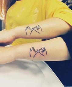 Pinky Swear Tattoos for Sisters or Best Friends