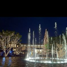 Dancing waters fountain at Glendale's Americana At Brand.