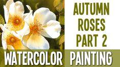 Autumn Roses Tutorial PART 2 - Background (negative painting technique)