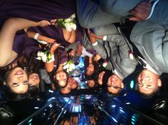 Enjoying the limo ride...Armando & Yadira's Wedding