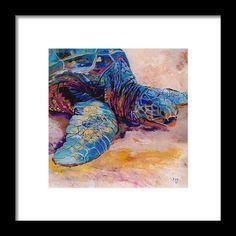 Turtle At Poipu Beach 6 Framed Print By Marionette Taboniar